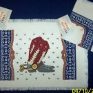 WESTERN COWBOY BOOTS RODEO 4 PLACEMATS NWT