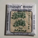 MAINE POTHOLDER THOUGHT HOLDER GREETING CARD