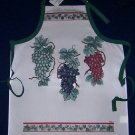 1 NWT ADULT GOURMET APRON GRAPES AND IVY
