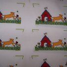 ONE FABRIC PANEL 6 SETS OF OVEN MITTS TOPS DOGS DOG