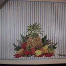 4 WILLIAMSBURG BOUNTIFUL HARVEST HEMMED  PLACEMATS NWT