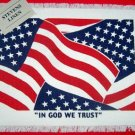 1 PATRIOTIC STARS STRIPES FLAG  WOVEN PLACEMAT NWT
