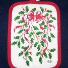 1 NEW LENOX  HOLIDAY RED RIBBON POTHOLDER