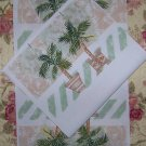 GIFT BAG SEWING PROJECT PALM TREE TREES, 10 PANELS