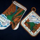 GRAND CANYON OVEN MITT AND POTHOLDER  NEW