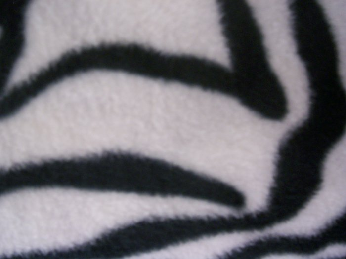 Hand-Tied Fleece Zebra Blanket