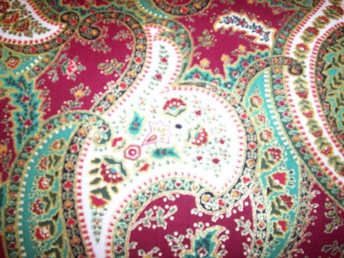 Hand-Tied Pillow - Christmas Paisley Print