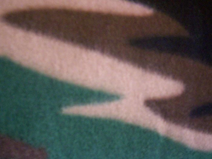 Hand-Tied Fleece Pillow Camo Print