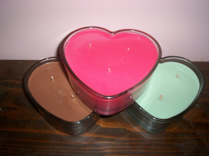 """Glass Heart IntenScents Soy Candle """"Romantic Paradise"""""""