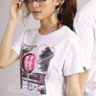 Fashion Lovers' Romantic Pictured T-shirt (Female) White