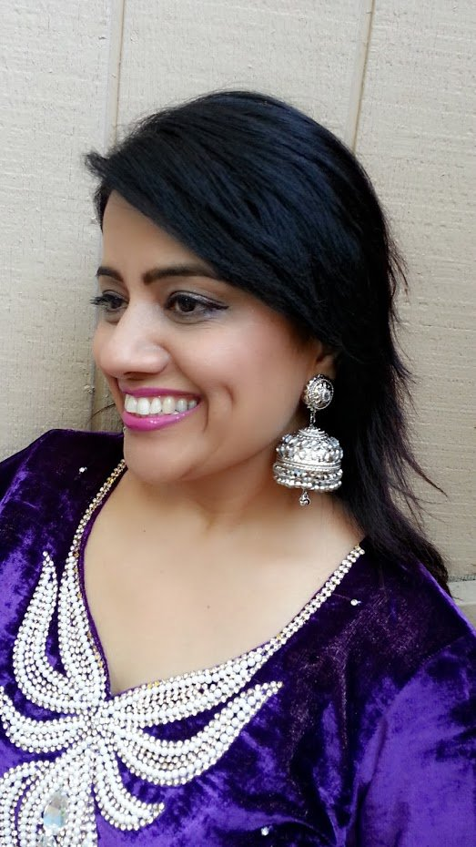 Silver Jhumki Big Light Weight Indian Jhumka Earrings Bollywood Fashion