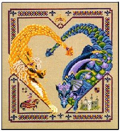 Dragon Heart - Cross Stitch Chart