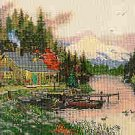 End Of A Perfect Day by Thomas Kinkade - Cross Stitch Chart