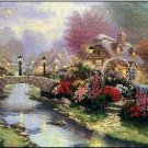 Lamplight Bridge by Thomas Kinkade - Cross Stitch Chart