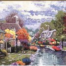 Lamplight Brooke By Thomas Kinkade - Cross Stitch Chart