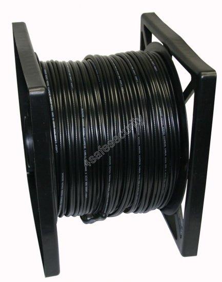 RG59 Siamese Power Security Camera Wire - Black - 500'