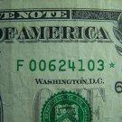 $1 2003A FRN F00624103* STAR NOTE DC, F6