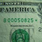 $1 2003A FRN B00050825* STAR NOTE, LOW NUMBER, DC, B2