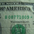 $1 2003A FRN B08771009* STAR NOTE, DC, B2