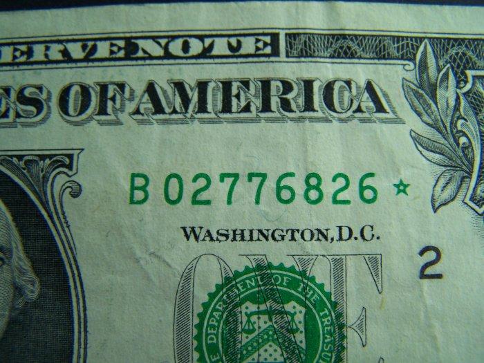 $1 2006 STAR NOTE B02776826* DC, B2