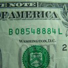 $1 2006 FRN FANCY SERIAL NUMBER w/ EIGHTS B08548884L