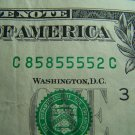 $1 2006 FRN FANCY SERIAL # w/ FIVES C85855552C