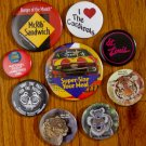 1980's and 90's Pin Back Buttons McDonalds Boy Scouts