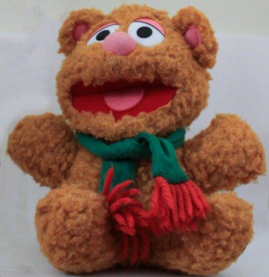 1987 Muppet Babies Fozzie Wearing Scarf Stuffed Toy