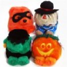 Puffkins 1999 Limited Edition Halloween Set- Jack, Stitch, Patches & Trick