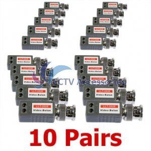 (20) 1 Port Passive Video Balun Transceiver for Cameras