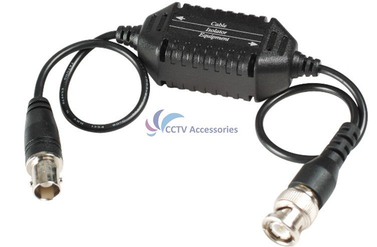CCTV Video Ground Loop Isolator, Coaxial Cable, BNC