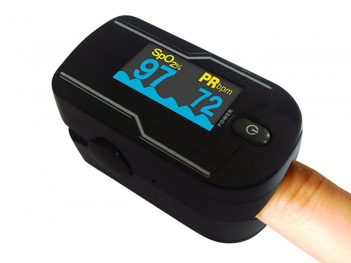 Oximeter Finger Pulse Heart Rate Blood Oxygen Monitor Color Night Vision OLED Display