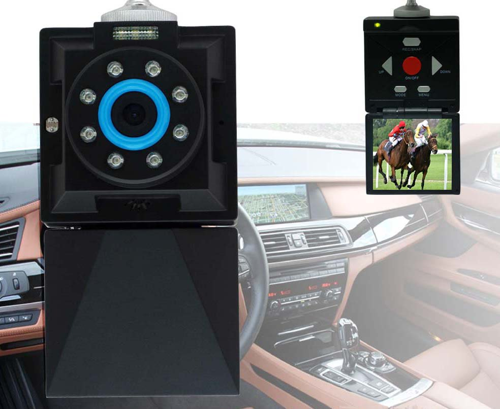 Car DVR Video Recorder n Player with 2.4 Monitor Motion Detection n Night Vision with Windshield Kit