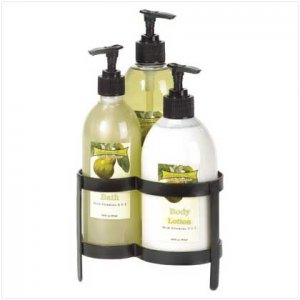 PEAR BATH SET WITH METAL STAND