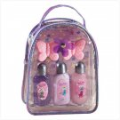 PURPLE PVC GIFT BAG LOTION SET