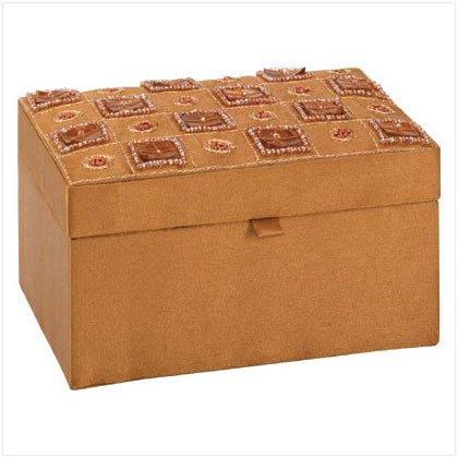 BROWN SATIN JEWELRY BOX