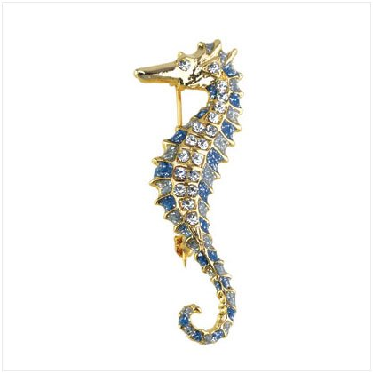 GOLD PLATED SEAHORSE PIN