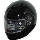 Full Face Gloss Black Modular Motorcycle Helmet NEW
