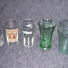 COCA COLA Lot Mixed Styles 5 Glasses