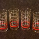 COCA COLA HOLIDAY Style  4 Glasses
