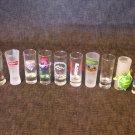 "Shot Glasses Mixed Lot of 10 / 4""x 1.5""  Around World"