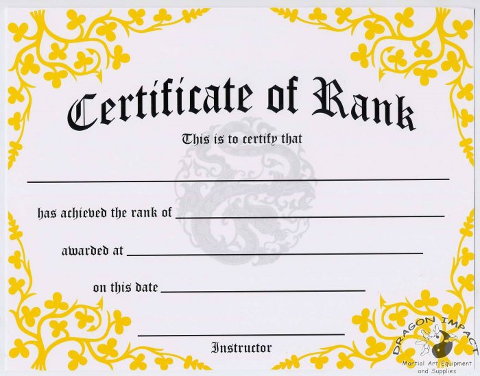 Certificate of Rank - #11385111
