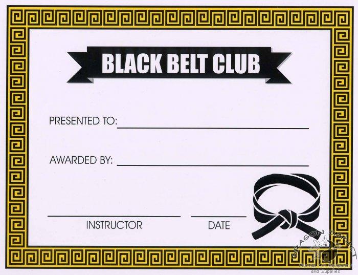 Black Belt Club Certificate - #11385117