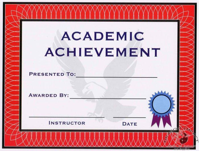 Academic Achievement Certificate - #11385118
