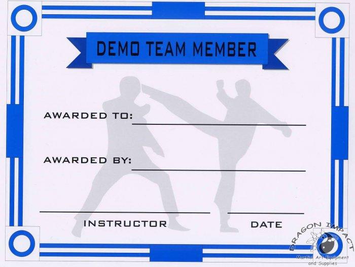 Demo Team Member Certificate - #11385116