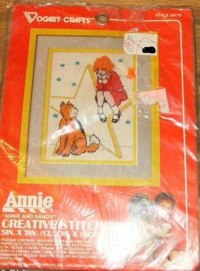 ANNIE & SANDY VINTAGE PICTURE FROM VOGART CRAFTS 1982