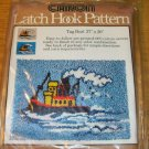 TUGBOAT RUG PATTERN FROM CARON - LG SIZE - NIP- PRETTY