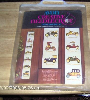 AVON VINTAGE CARS WALL HANGING,OLD CARS, NEAT