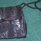 BLACK BROCADE EVENING BAG, SHOULDER STRAP,NEW, PRETTY