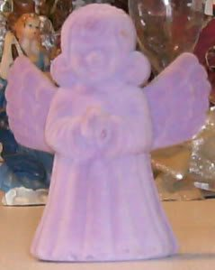 Purple Velour Angel with Angel Pendant - Gift Box - See